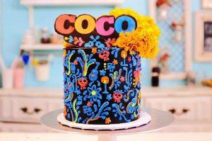 pastel de coco pixar disney