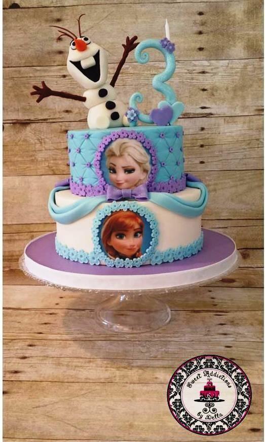 pastel de elsa frozen