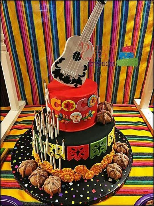 Pasteles para fiesta de Coco Pixar Disney