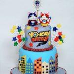 pastel de yo kai watch para fiesta