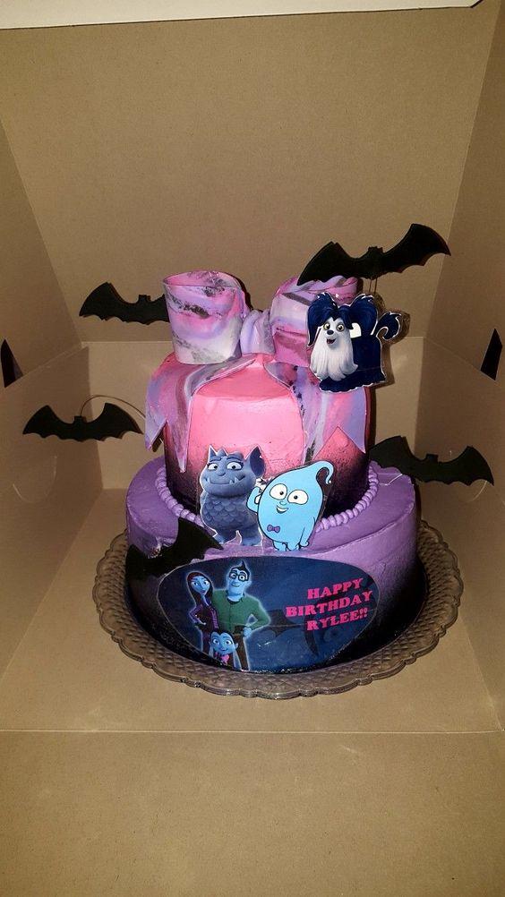 pastel para fiesta tematica vampirina
