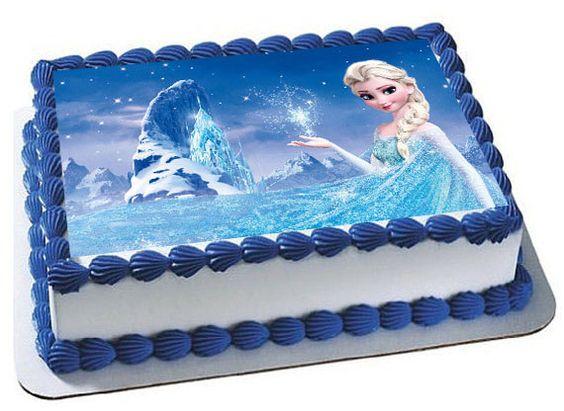 pasteles de frozen cuadrados