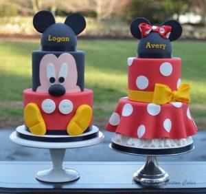 pasteles para mellizos