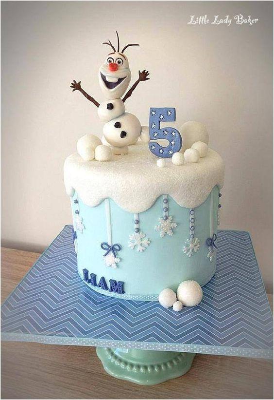 pasteles para nina sencillos frozen 2