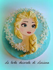 pasteles para nina sencillos frozen 3