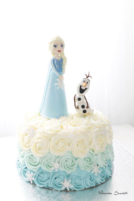 pasteles para nina sencillos frozen