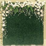 photocall con flores naturales