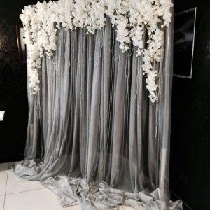 photocall con telas y cortinas