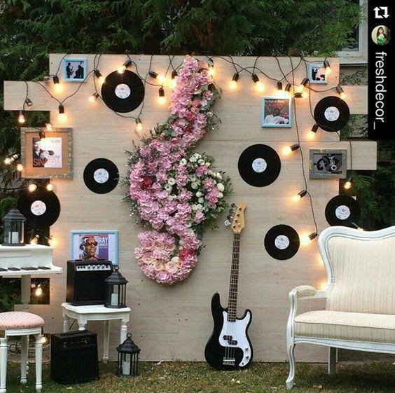 photocall para los amantes de la musica