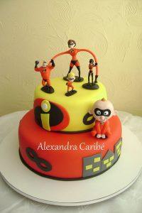tortas de los increibles en crema (2)