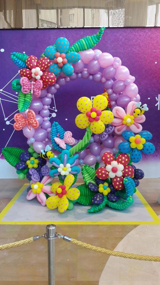 Marcos de globos para fotos decoraci n con globos para fiestas - Fotografias para decoracion ...