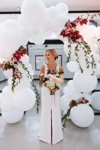 marco con globos para bodas