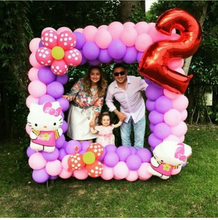 Marcos de globos para fotos - Decoración con globos para fiestas
