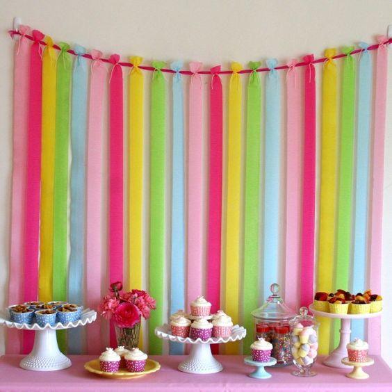 mesa principal para una fiesta en el colegio