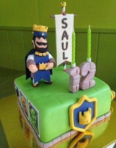pastel para cumpleanos de clash royale