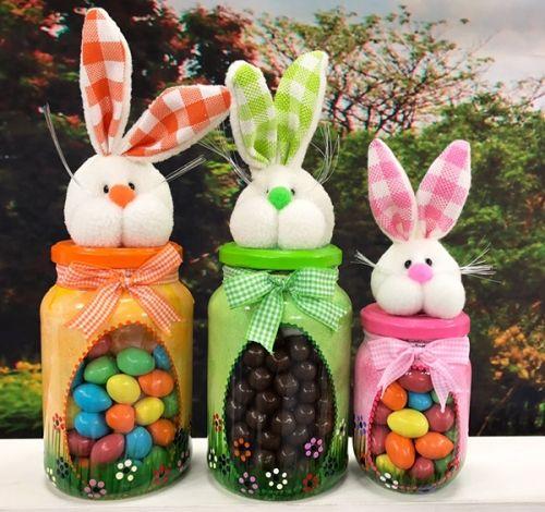 Centros de mesa para fiesta infantil de conejos