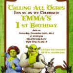 Diseños de invitaciones para fiesta infantil de shrek3