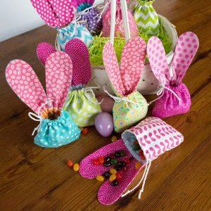 Dulceros para fiesta infantil de conejos