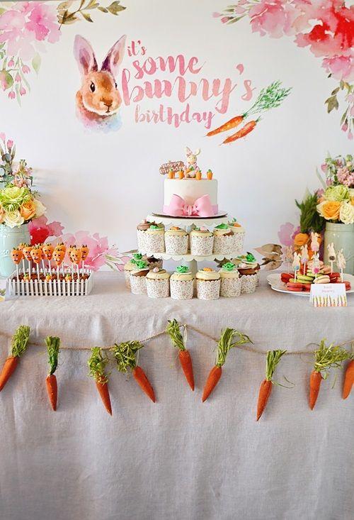 Ideas para decorar una fiesta infantil de conejos1