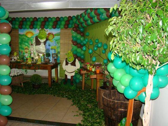 Ideas para decorar una fiesta infantil de shrek6