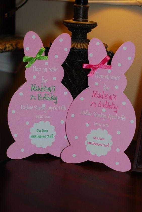 Invitaciones de conejitos para imprimir