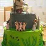 Pasteles para fiesta infantil de shrek