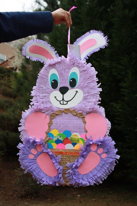 Piñatas para fiesta infantil de conejos