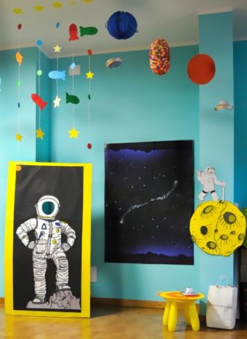 Arreglos infantiles de astronautas