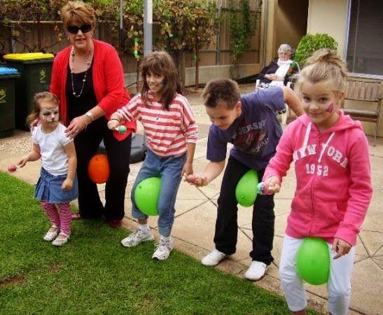 caminemos con globos juego infantil para fiesta