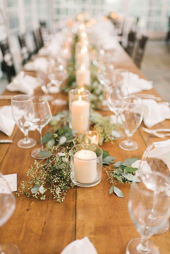 Centros de mesa con velas originales