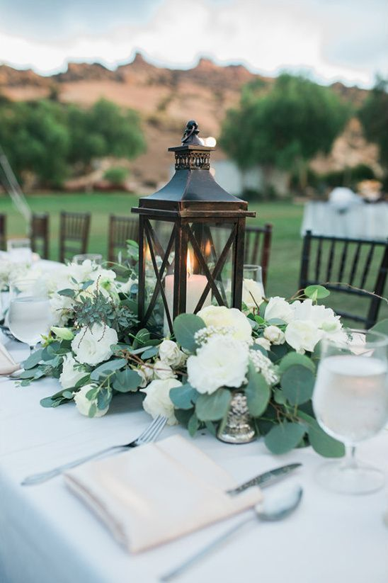 Centros de mesa de herreria con velas