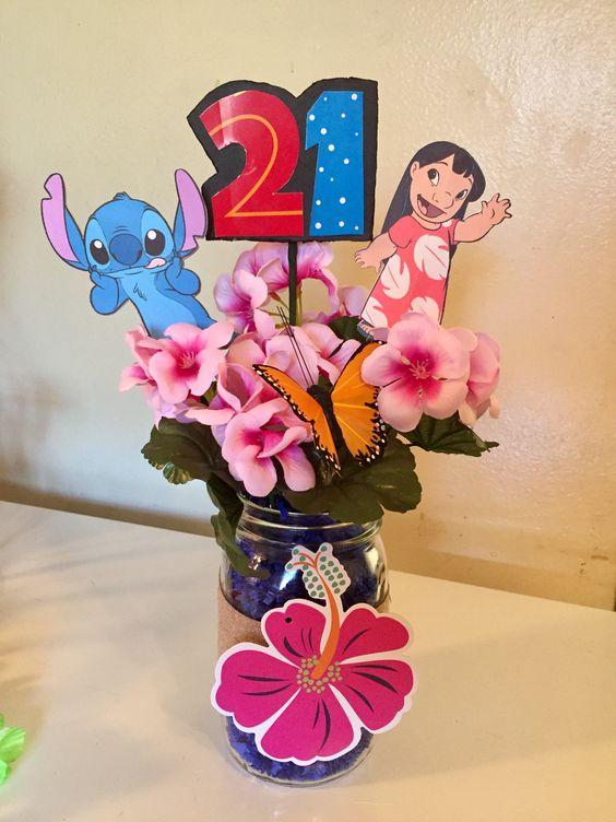 Centros de mesa de lilo & stitch