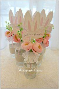 centros de mesa para fiesta de conejos