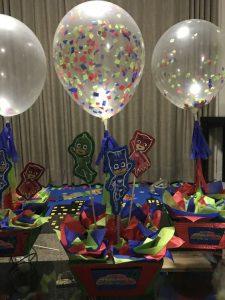 centros de mesa para fiesta heroes en pijama