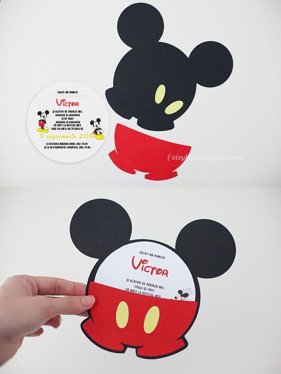 como hacer invitaciones de mickey mouse a mano diy