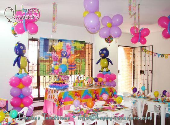 Decoración de backyardigans para fiestas infantiles