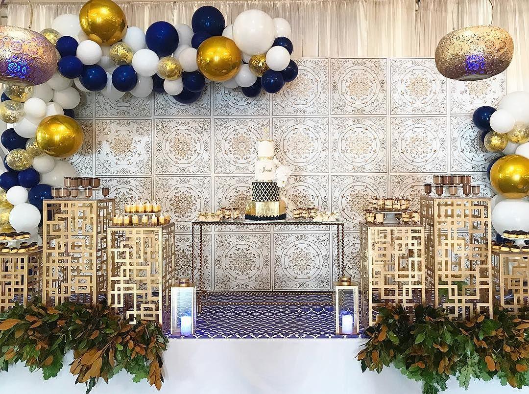 decoracion de fiestas en color azul cobalto (6)