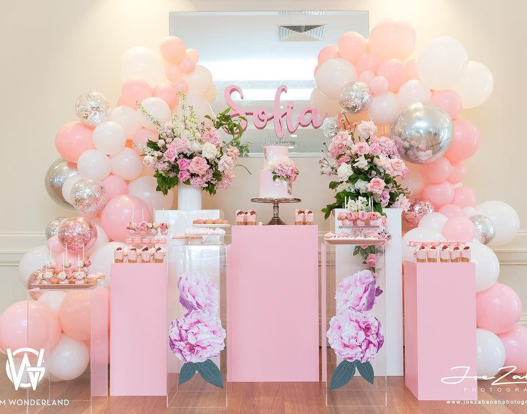 Top de colores para decorar fiestas 2018 60 ideas para - Decoracion fiesta rosa ...