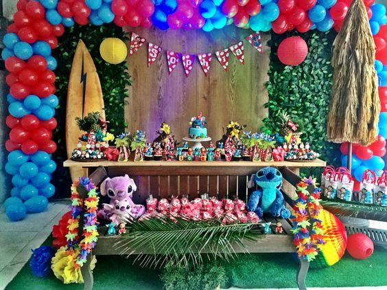 Decoración de lilo & stitch para fiestas infantiles