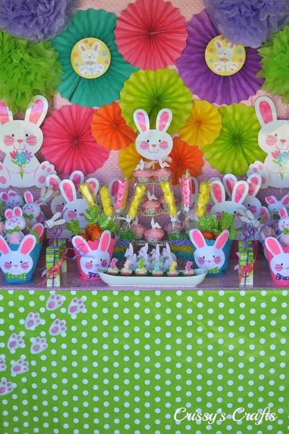 fiesta infantil de conejos