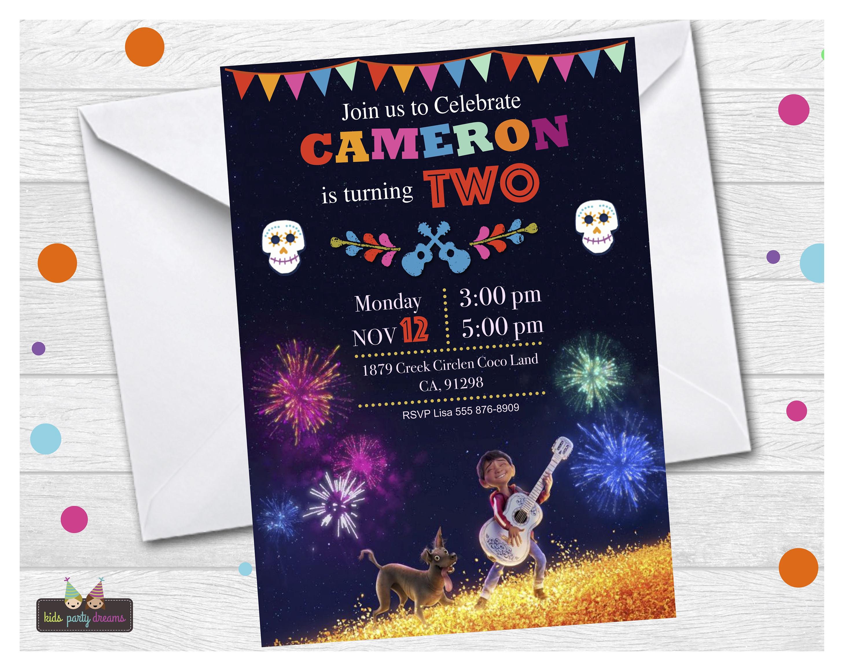 Invitaciones para fiesta de coco - Decoracion de Fiestas ...