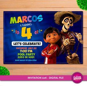Invitaciones para fiesta de coco