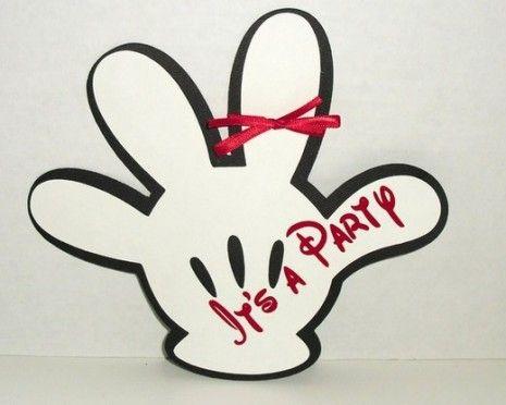 invitacion de mano de mickey mouse