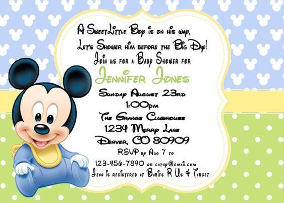 invitacion de mickey bebe