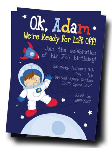 Invitaciones de astronautas
