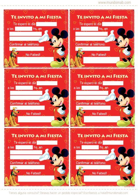 Invitaciones De Mickey Mouse Para Imprimir Ticketmaster