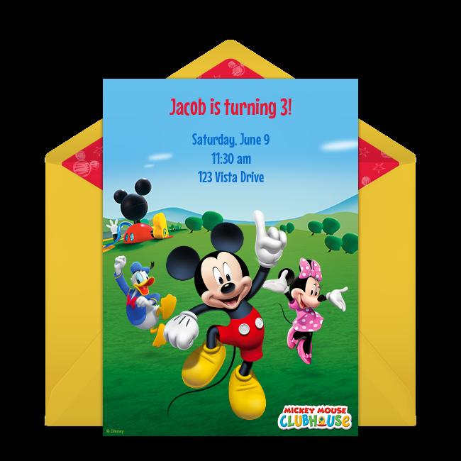 invitaciones de mickey mouse para llenar