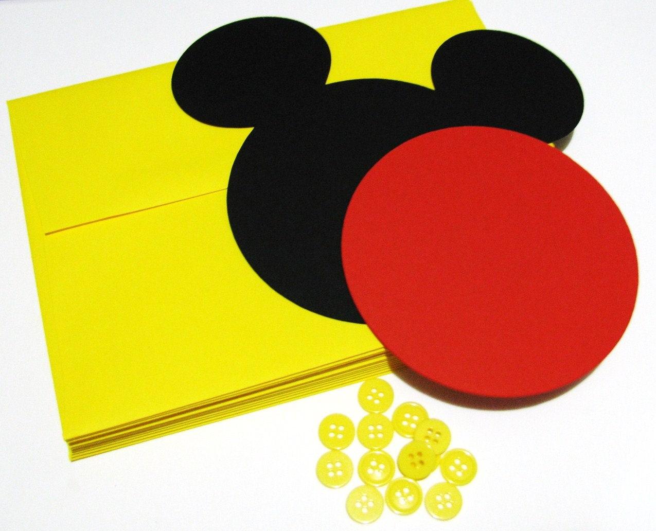 invitaciones de mickey mouse redondas 2