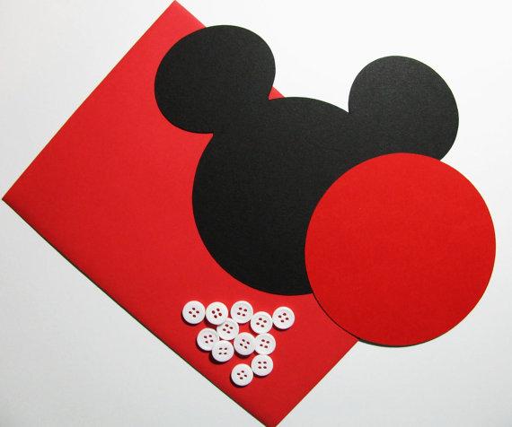 Invitaciones de mickey mouse redondas