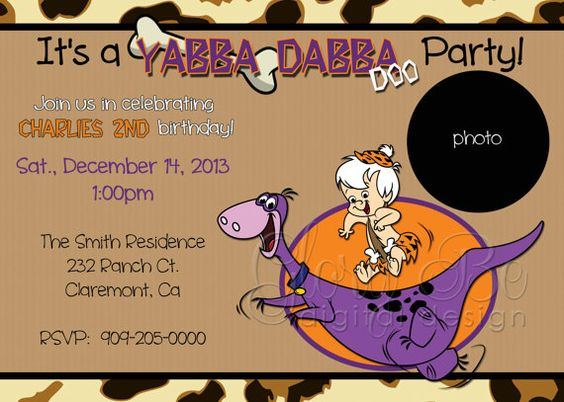 invitaciones fiesta bam bam